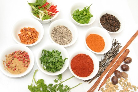 spice isolated: herbs and spices