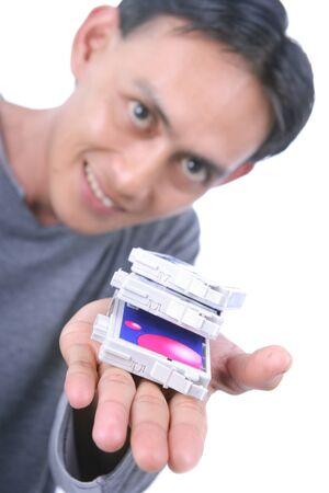 ink jet: inkjet printer cartridge Stock Photo
