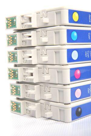 six colours inkjet cartridge Stock Photo - 4681460