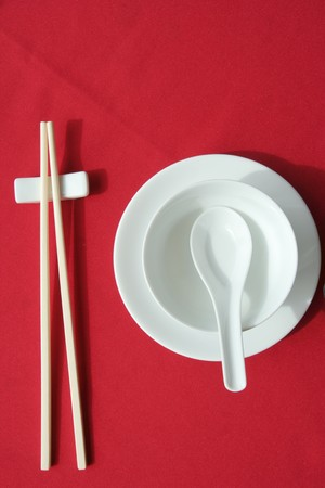chinese restaurant table set up Stock Photo - 4659200