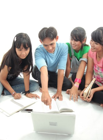 group of asian student Stock Photo
