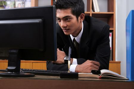 young success business man in the office