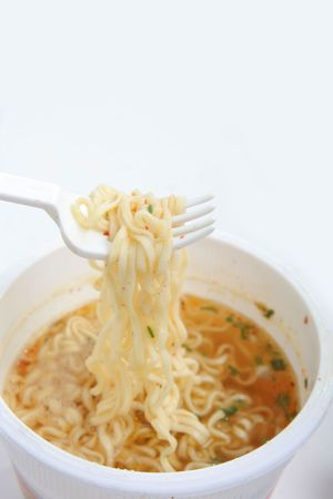Instant noodle food ready in 3 minutes with hot water Stock Photo - 5167773