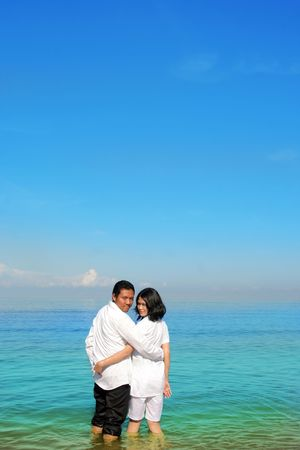 couple at beach Stock Photo - 5167889