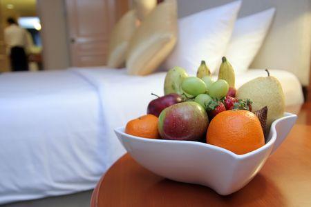 gastfreundschaft: Obst im Zimmer