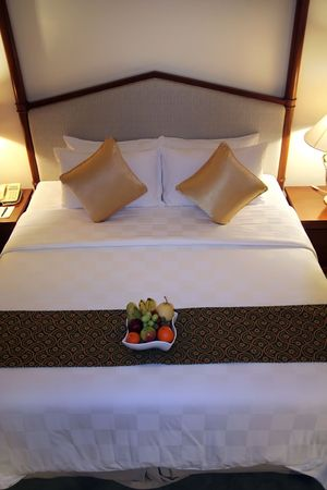 fruitts in hotel room