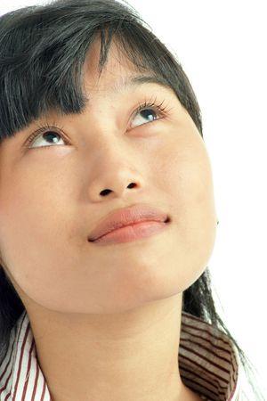 full face: Portrait of full face asian