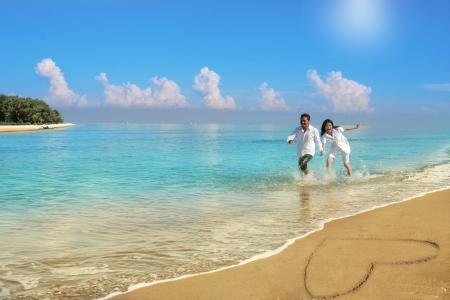 couple honeymoon Stock Photo