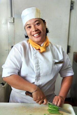 chef cocinando: cocinero