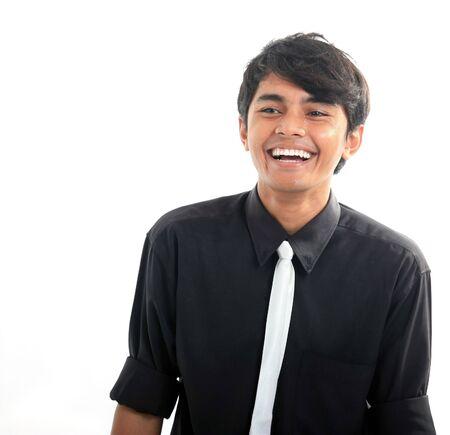 man laughing photo