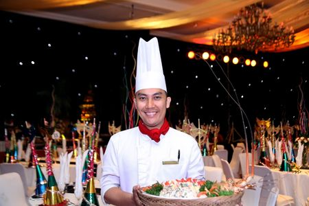 chef at gala dinner