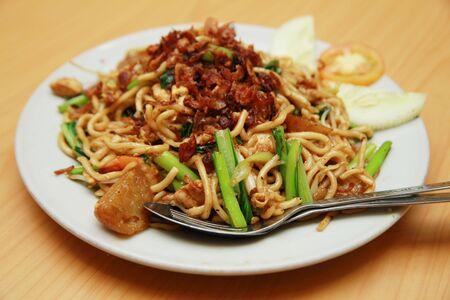mie noodles: fried noodle asian food