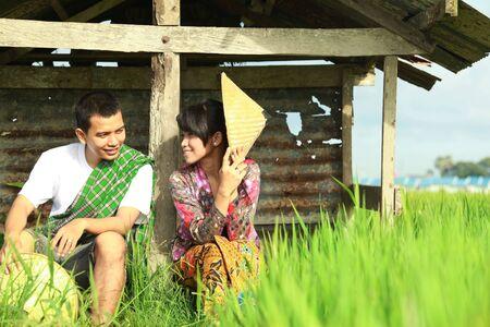south asians: asian farmer