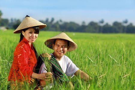 agricultor asiática