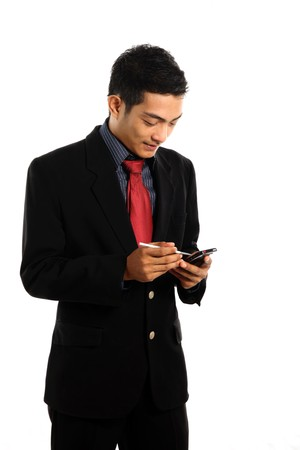 asian business man with PDA photo