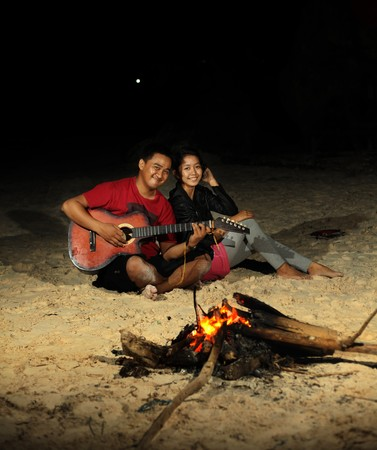campfire at the beach photo