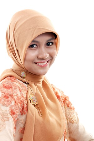 purdah: muslim woman smiling