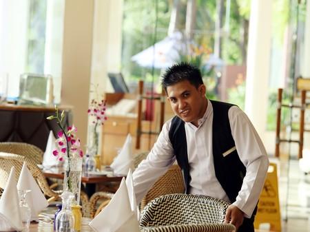 waiter at work Stock Photo