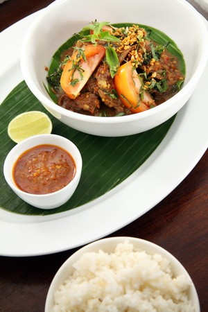 gado: asian food named balado Stock Photo