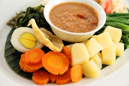 asian food named gado-gado