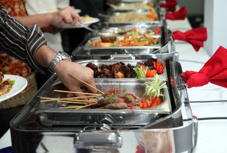 banquette: buffet food Stock Photo