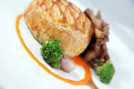 fricassee: Fillet mignon and oyster mushroom fricassee