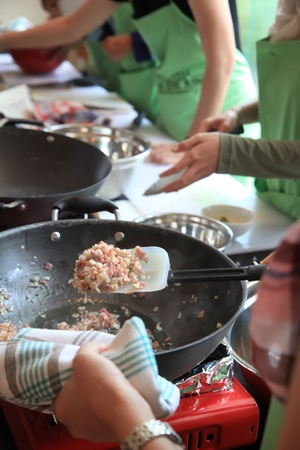cooking ware: cooking class Stock Photo
