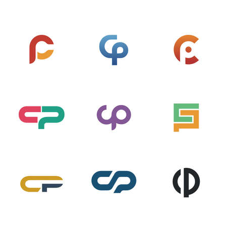 letter c: text letter C and P