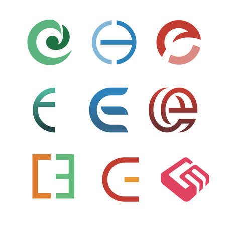 letter c: text letter C and E