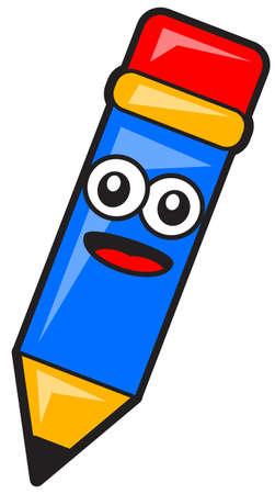 knutsel spullen: illustratie van cartoon potlood Stock Illustratie
