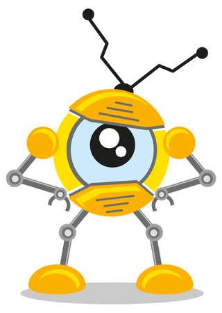 lock  futuristic: illustrazione di spia robot