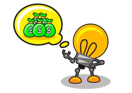 salaires: illustration de l'id�e d'affaires Illustration