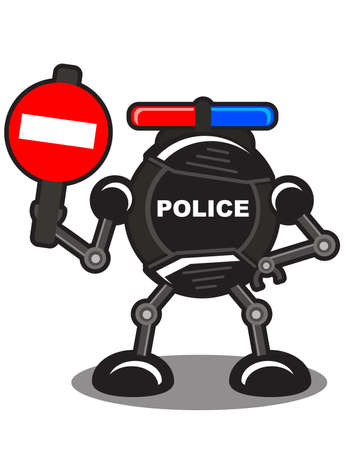 illustration of police robot Stock Vector - 10881963