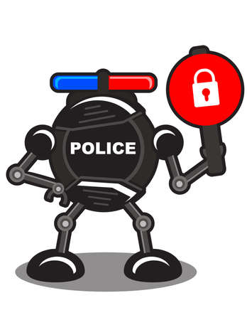 illustration of robotic police Stock Vector - 10881971