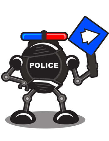illustration of robotic police Stock Vector - 10881973