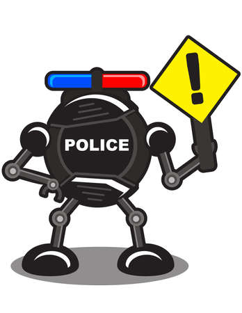 illustration of robotic police Stock Vector - 10881974