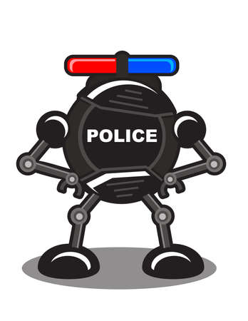 illustration of robotic police Vector