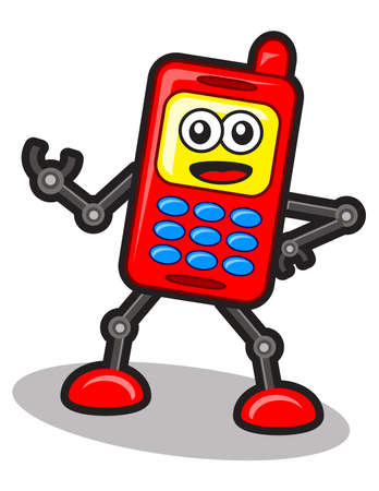 contact centre: illustration of robot cellular