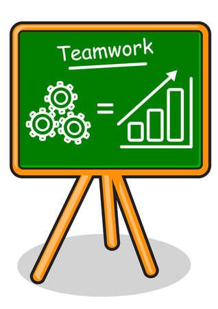 coordination: illustration of business board