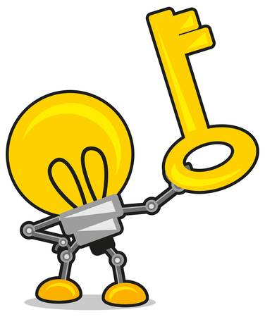 lamp and key