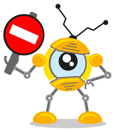 Robot Forbidden Stock Vector - 10881982
