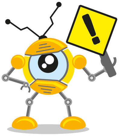 Robot Sign Vector