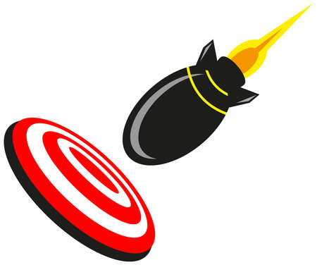 darts flying: Rocket Target