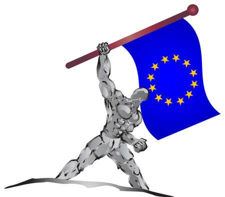 european euro: erope flag