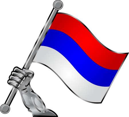 hand flag Stock Vector - 12125777