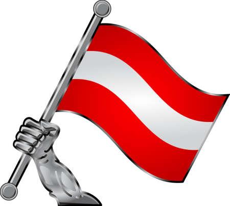 hand flag Vector