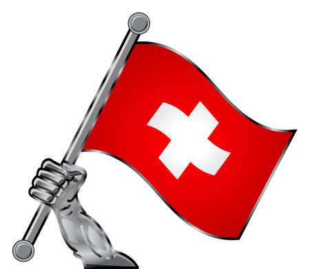 hand flag Stock Vector - 12125782