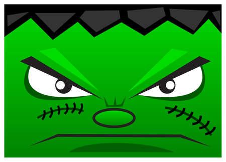 creepy monster: illustrazione divertente Vettoriali
