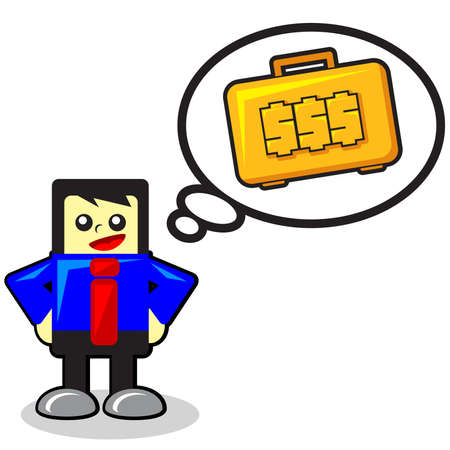 funny businessman Stock Vector - 12125731