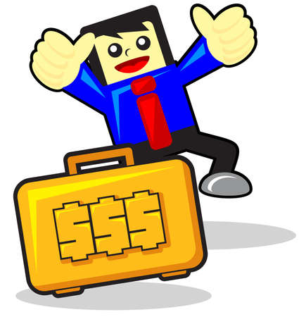 passive earnings: funny businessman Illustration